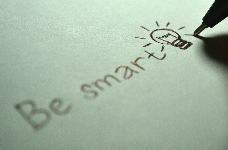 be smart written on a page